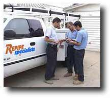 Repipe Specialists team with truck